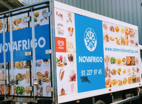 Comercial Novafrigo. Productos congelados
