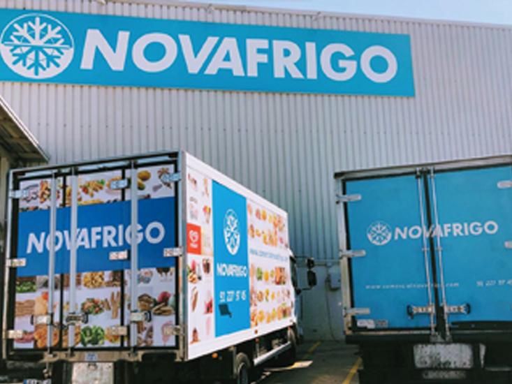 Camiones Comercial Novafrigo productos congelados