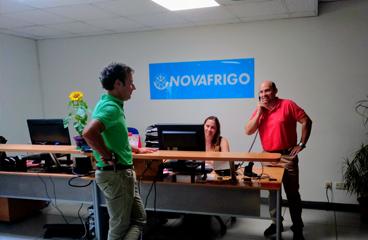 Recepción Comercial Novafrigo. distribución y asesoramiento a Hostelería de productos congelados de alta calidad