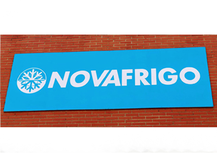 logotipo Comercial Novafrigo productos congelados