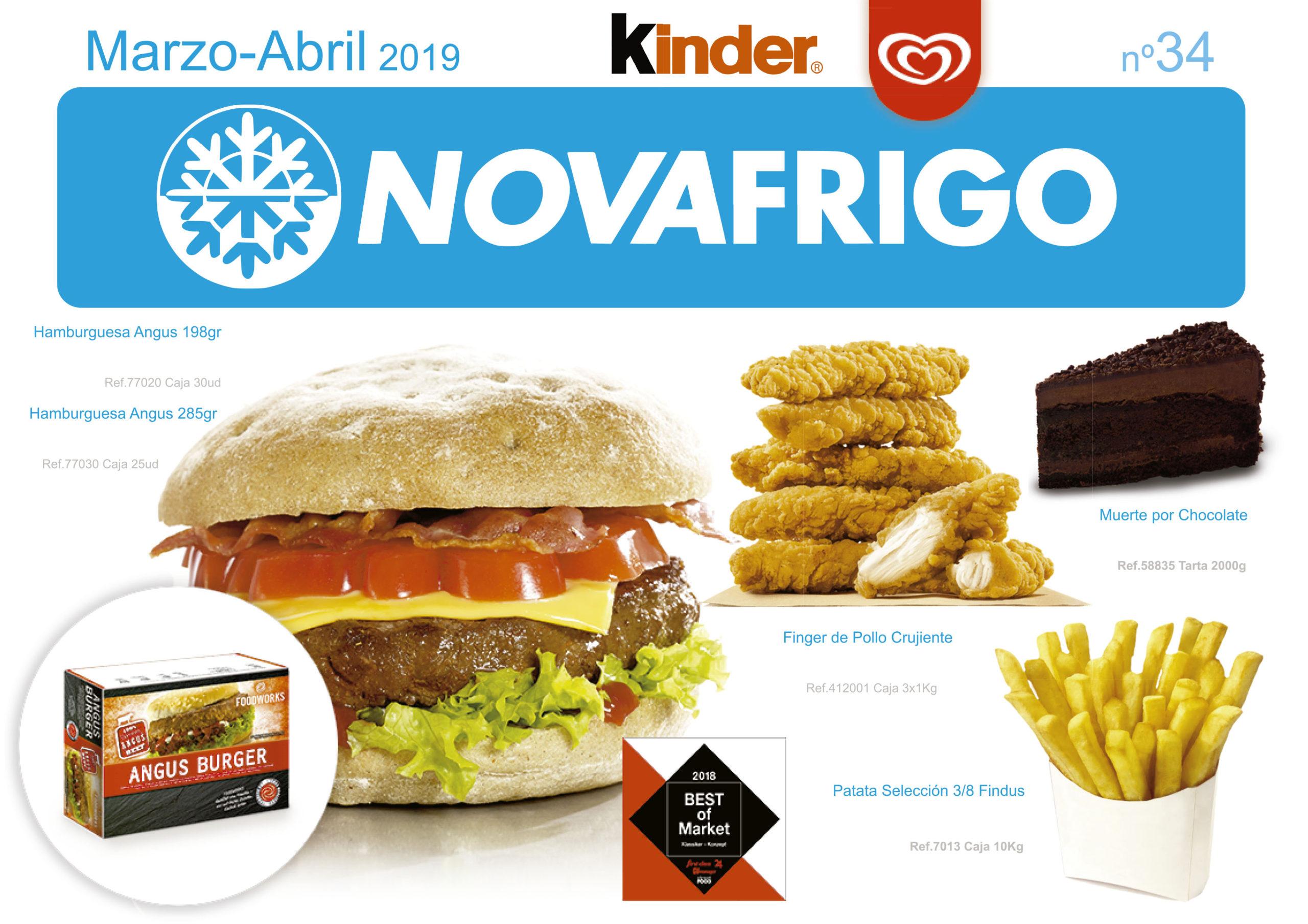 Catálogo comercial Novafrigo marzo-abril 2019
